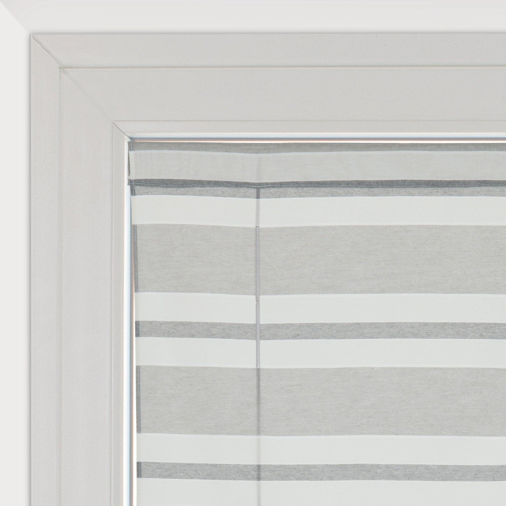 Tendina vetro Peggy grigio tunnel 58 x 175 cm - 1