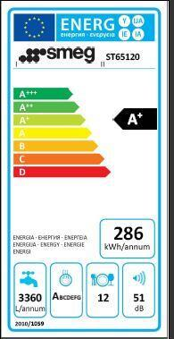 Lavastoviglie a incasso 5 programmi SMEG ST65120 - 2