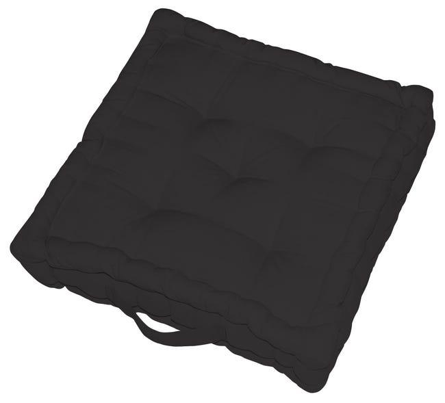 Cuscino da pavimento INSPIRE Elema nero 40x40 cm - 1