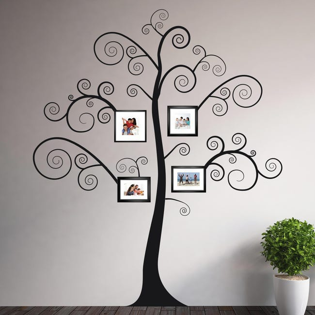 Sticker Black tree 14x73 cm - 1