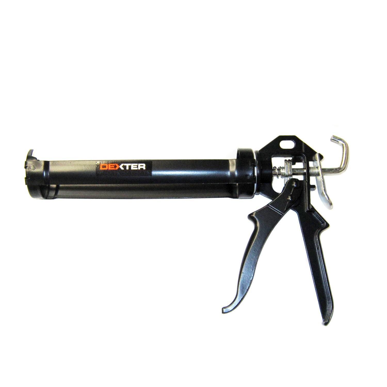 Pistola per silicone DEXTER in acciaio nero 310 ml - 2