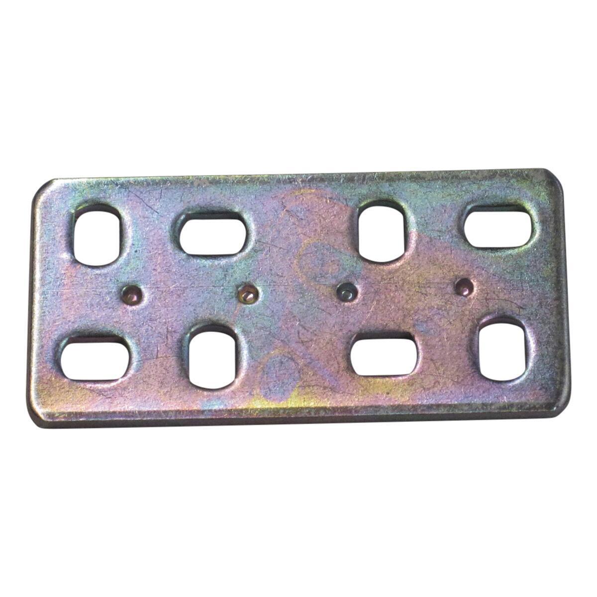 Piastra dritta STANDERS in acciaio zincato L 60 x Sp 2 x H 30 mm  4 pezzi