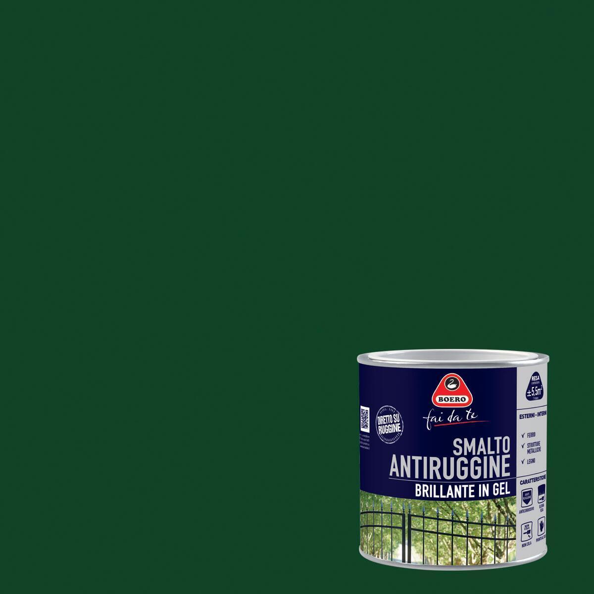 Smalto antiruggine BOERO FAI DA TE verde impero 0.5 L - 1