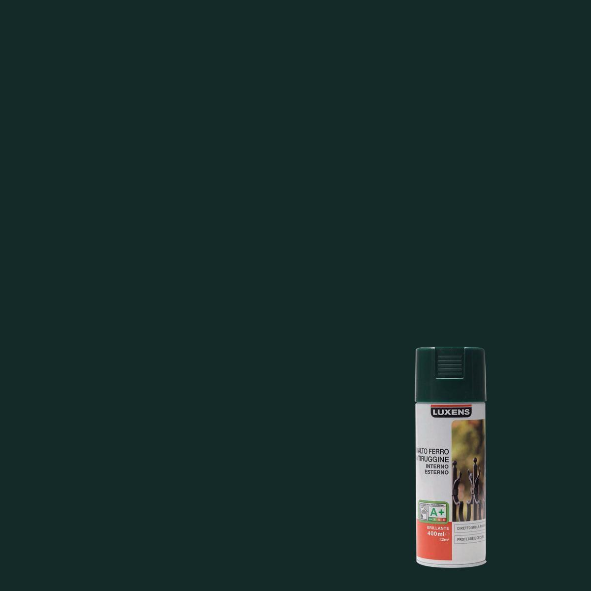 Smalto spray base solvente LUXENS 0.0075 L verde lucido - 1