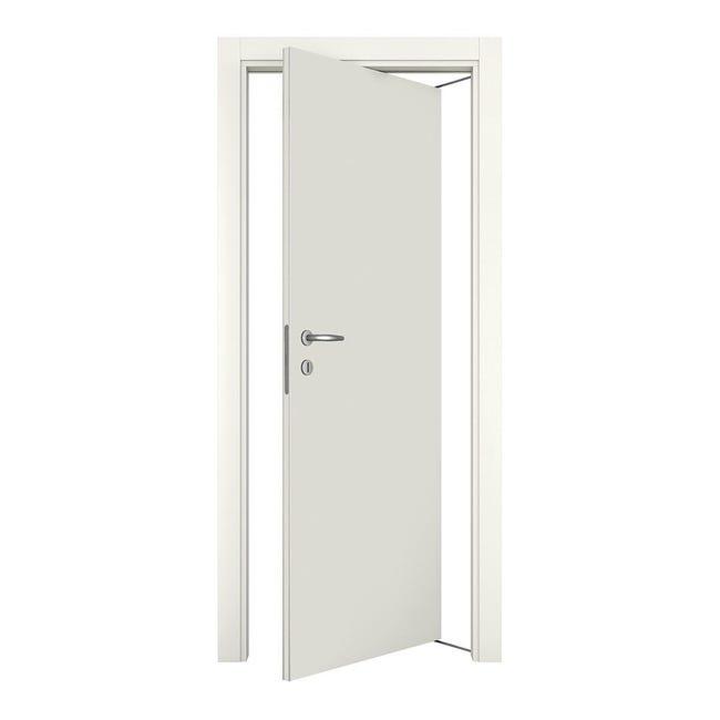 Porta rototraslante Word bianco laccato L 70 x H 210 cm destra - 1