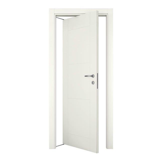 Porta rototraslante Mood bianco laccato L 80 x H 210 cm sinistra - 1