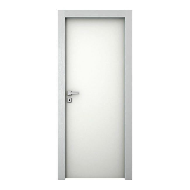 Porta a battente Bath bianco laccato L 80 x H 210 cm reversibile - 1