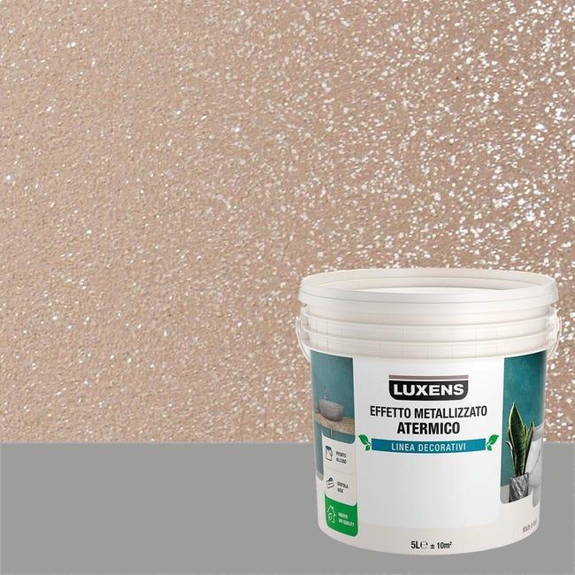 Pittura decorativa LUXENS EFFETTO METALLIZZATO ATERMICO 5 l topazio terra effetto metallo - 1