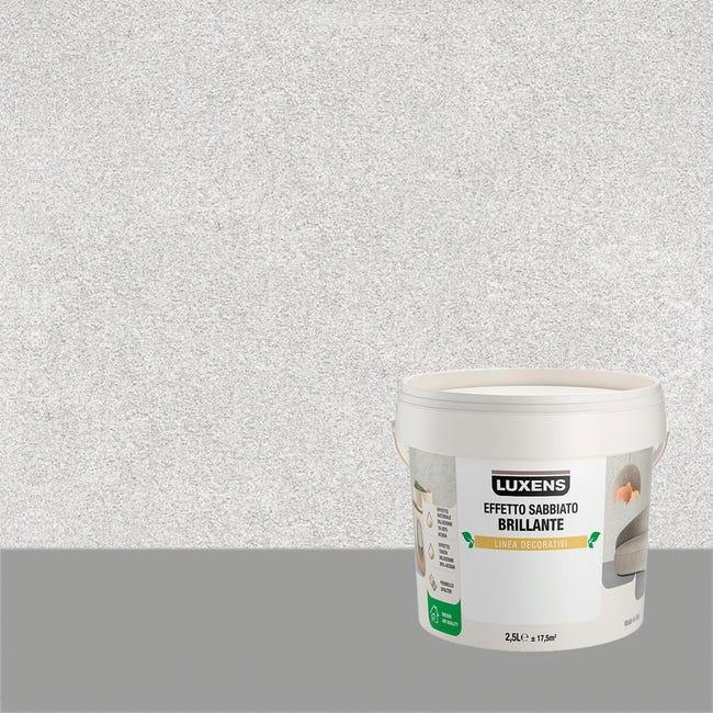 Pittura decorativa LUXENS EFFETTO SABBIATO BRILLANTE 2.5 l argento alfa effetto sabbiato - 1