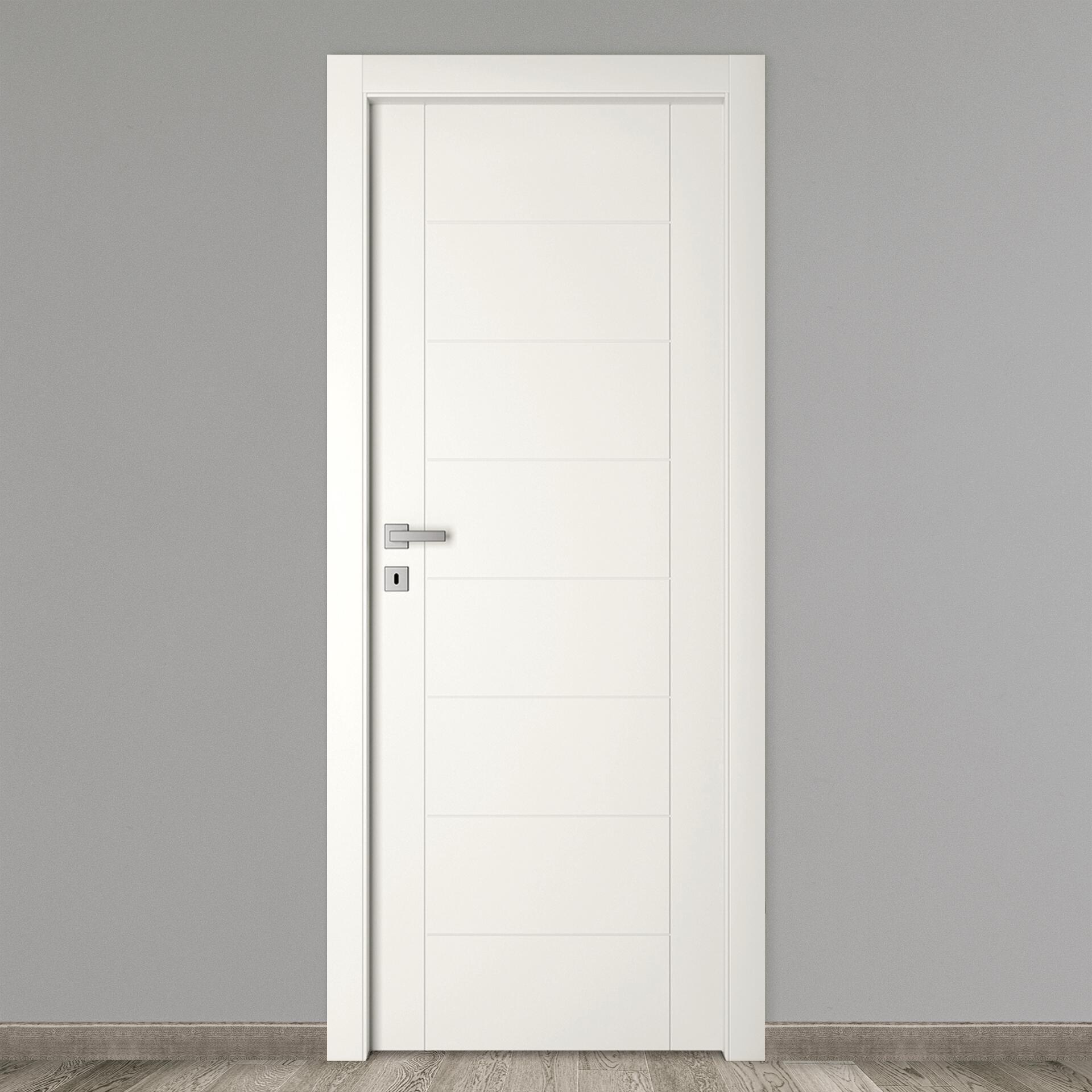 Porta a battente Chamberi bianco L 60 x H 210 cm reversibile - 3