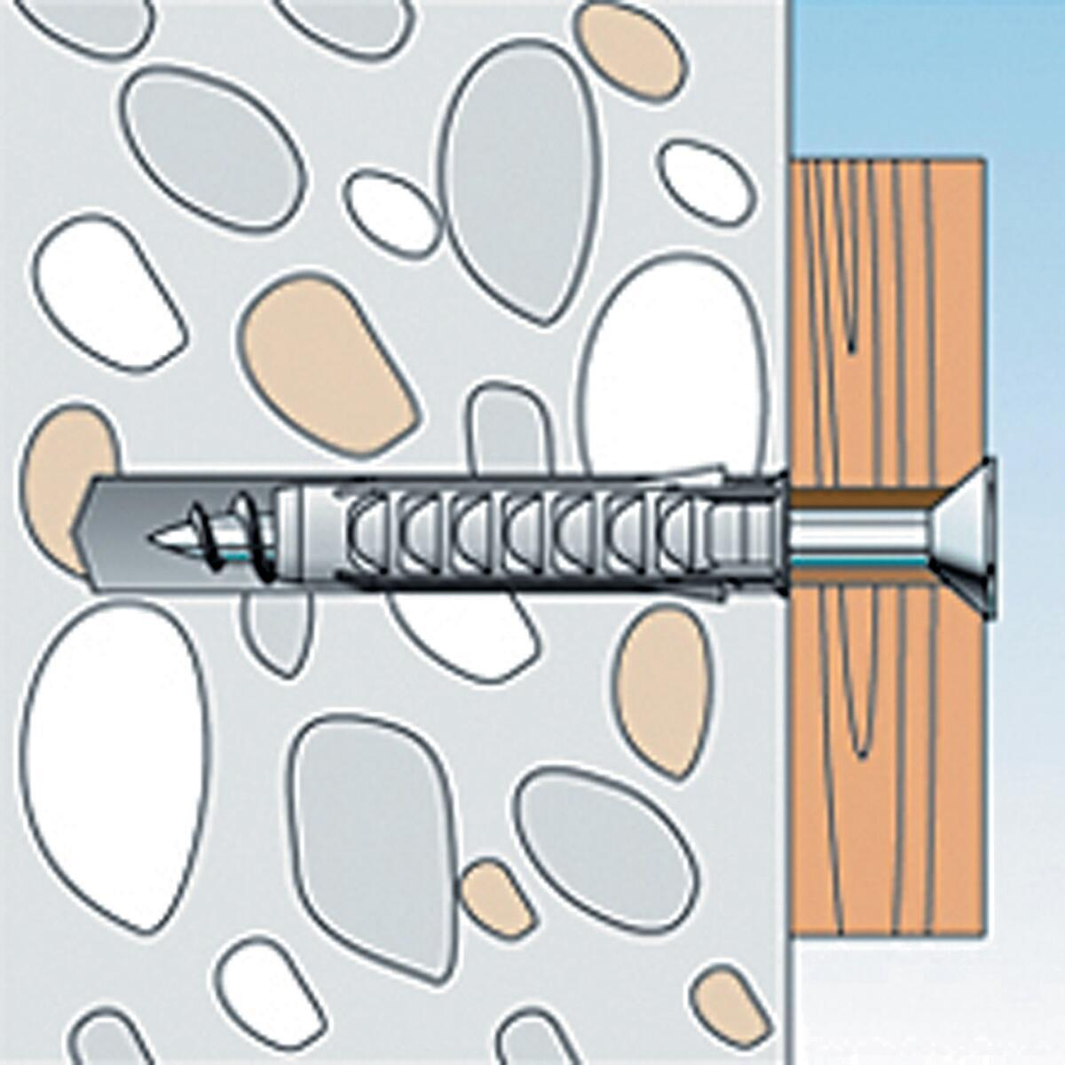 Tassello per materiale forato FISCHER SX, L 40 mm , Ø 8 mm, 25 pezzi - 2