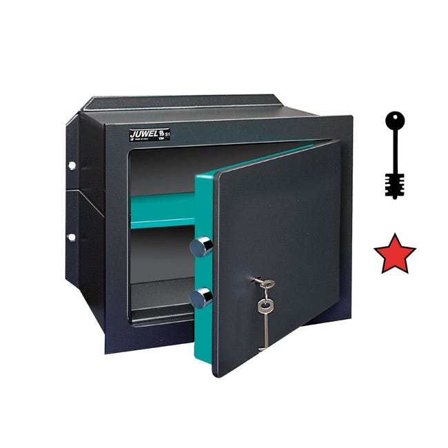 Cassaforte a chiave JUWEL 5004 da murare L26.5 x P19.2 x H17.5 cm - 1