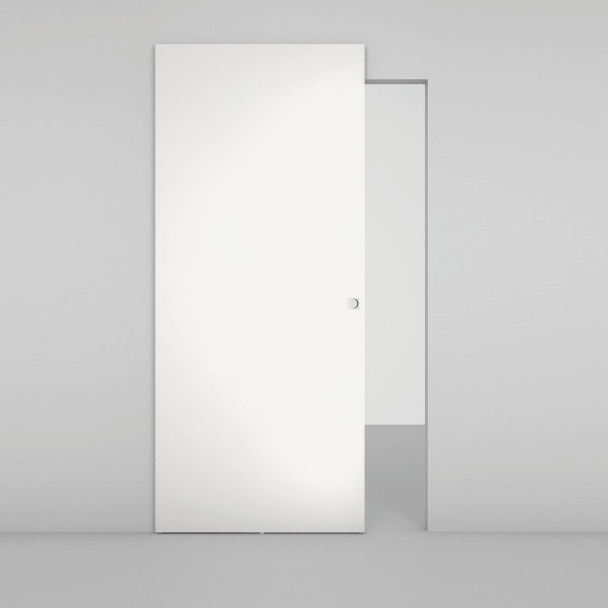 Porta scorrevole con binario esterno Space Lac Qdra in legno, Binario nascosto L 101 x H 230 cm dx - 2