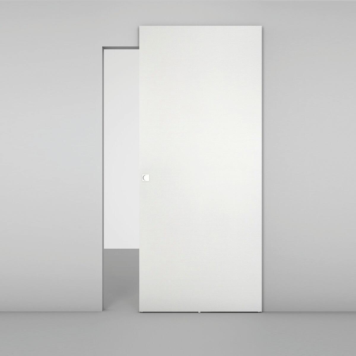 Porta scorrevole con binario esterno Space Matrix Qdra in legno, Binario nascosto L 101 x H 230 cm sx - 2