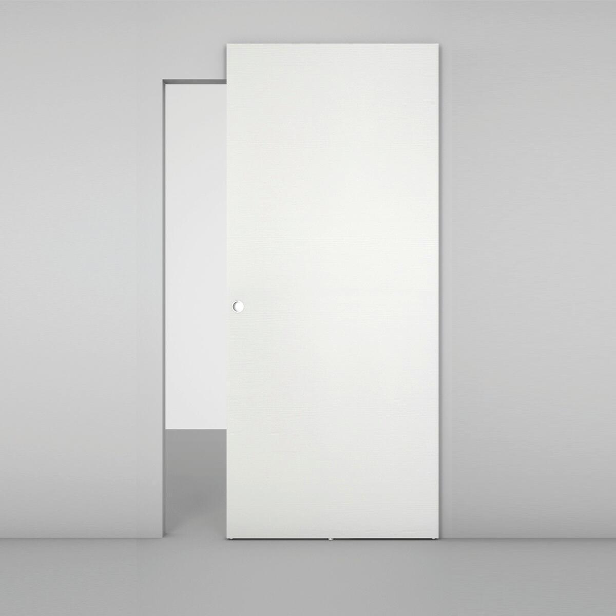 Porta scorrevole con binario esterno Space Matrix Tda in legno, Binario nascosto L 101 x H 230 cm sx - 2