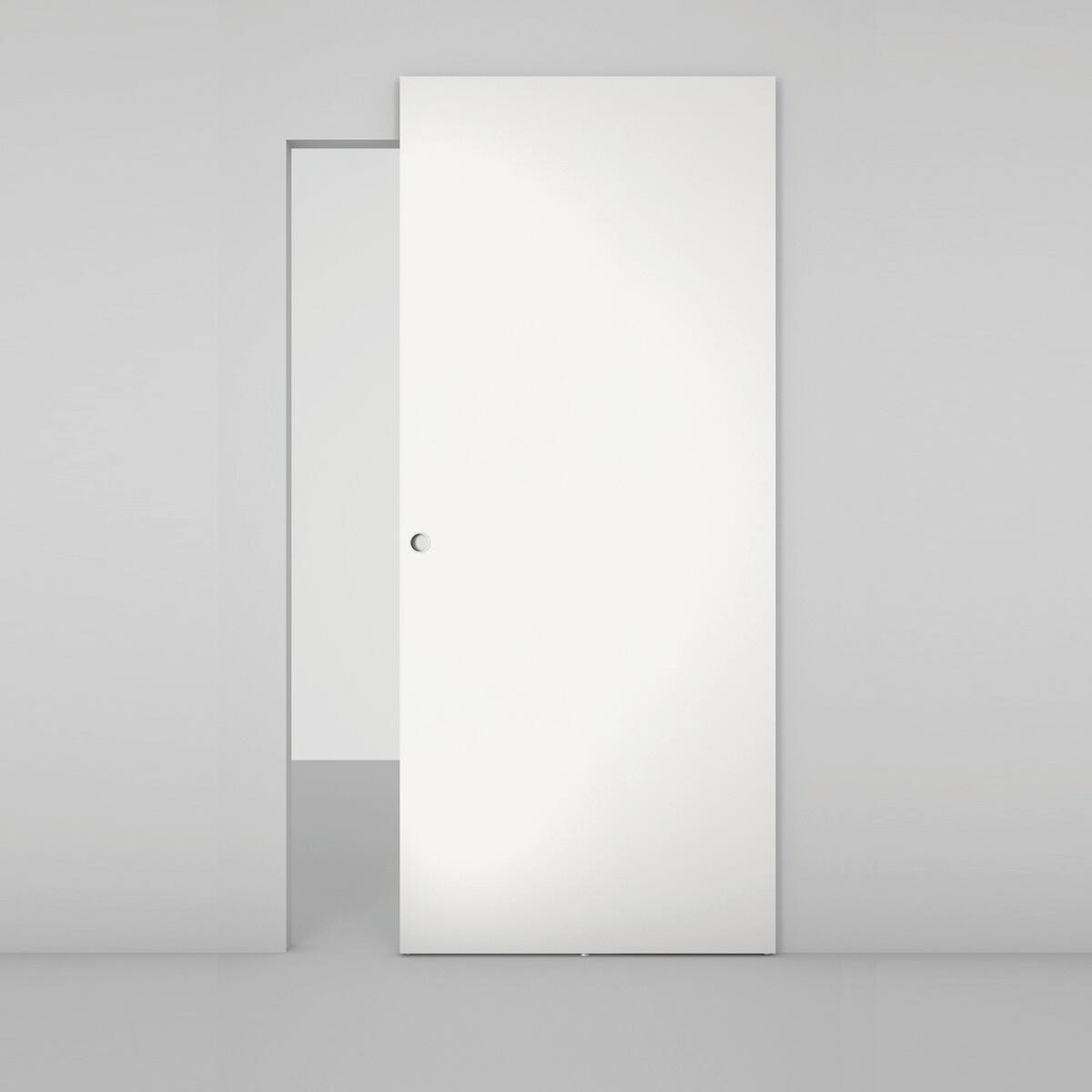 Porta scorrevole con binario esterno Space Lam Tda in legno laccato Binario nascosto L 101 x H 230 cm sx - 2