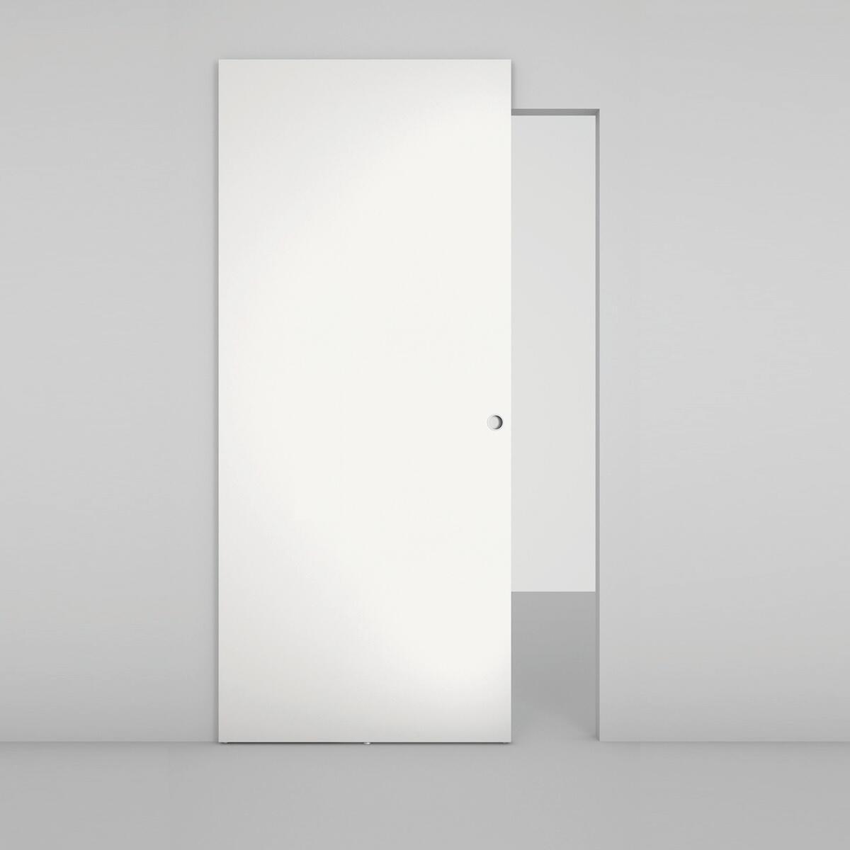 Porta scorrevole con binario esterno Space Lam Tda in legno, Binario nascosto L 101 x H 230 cm dx - 2