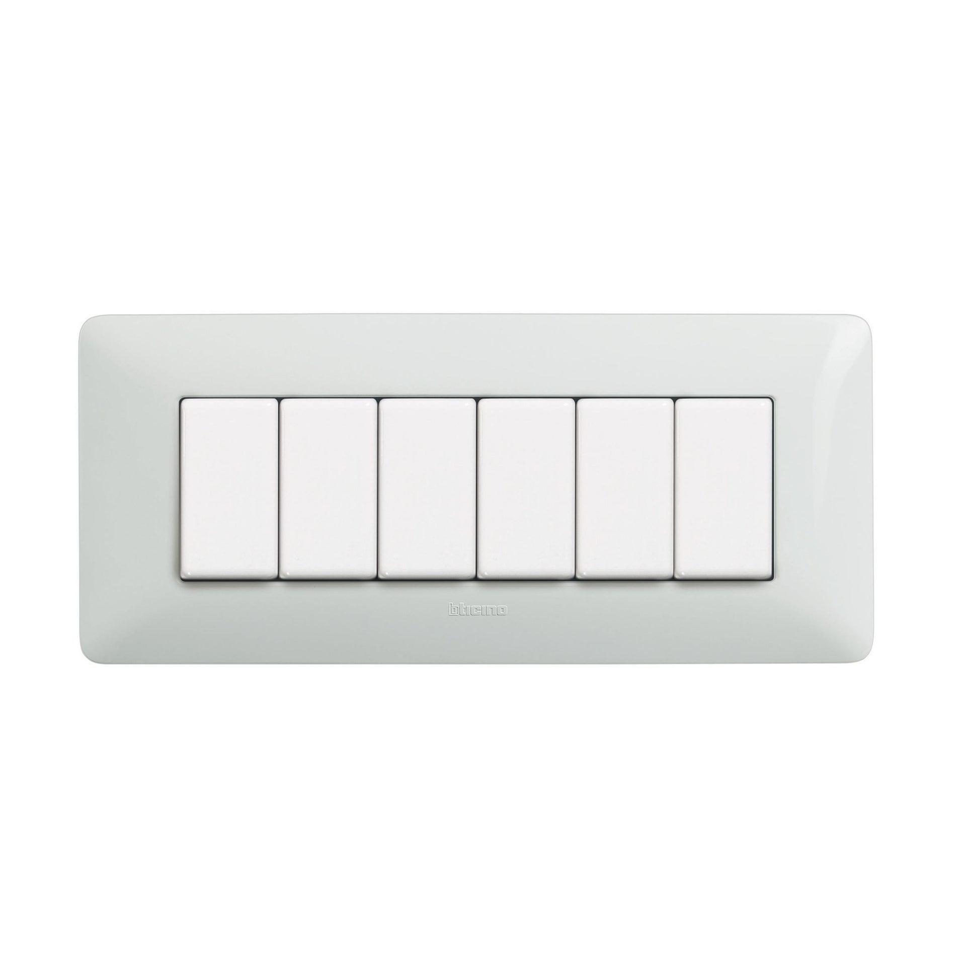 Placca Matix BTICINO 6 moduli bianco - 2