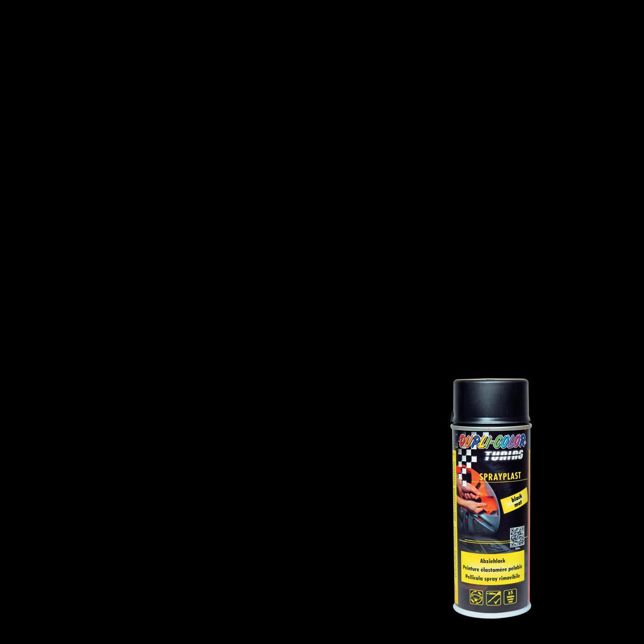Smalto spray base solvente DUPLI COLOR Sprayplast 0.0075 L nero opaco - 1