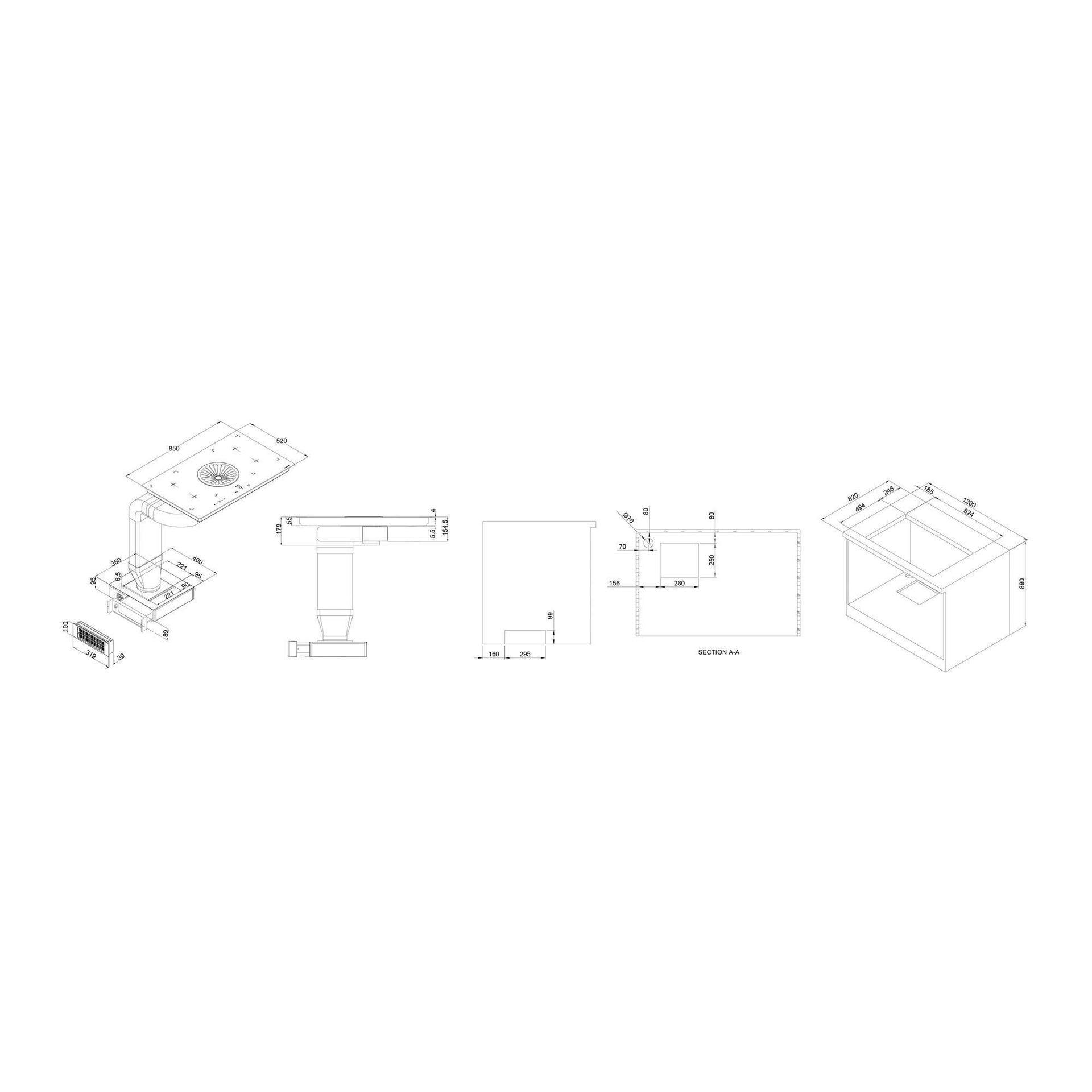Piano cottura induzione 82.4 cm 3412 SUPREME - 2