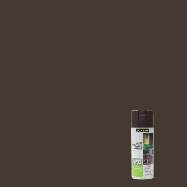 Smalto spray LUXENS Deco marrone cioccolato satinato 0.0075 L - 1