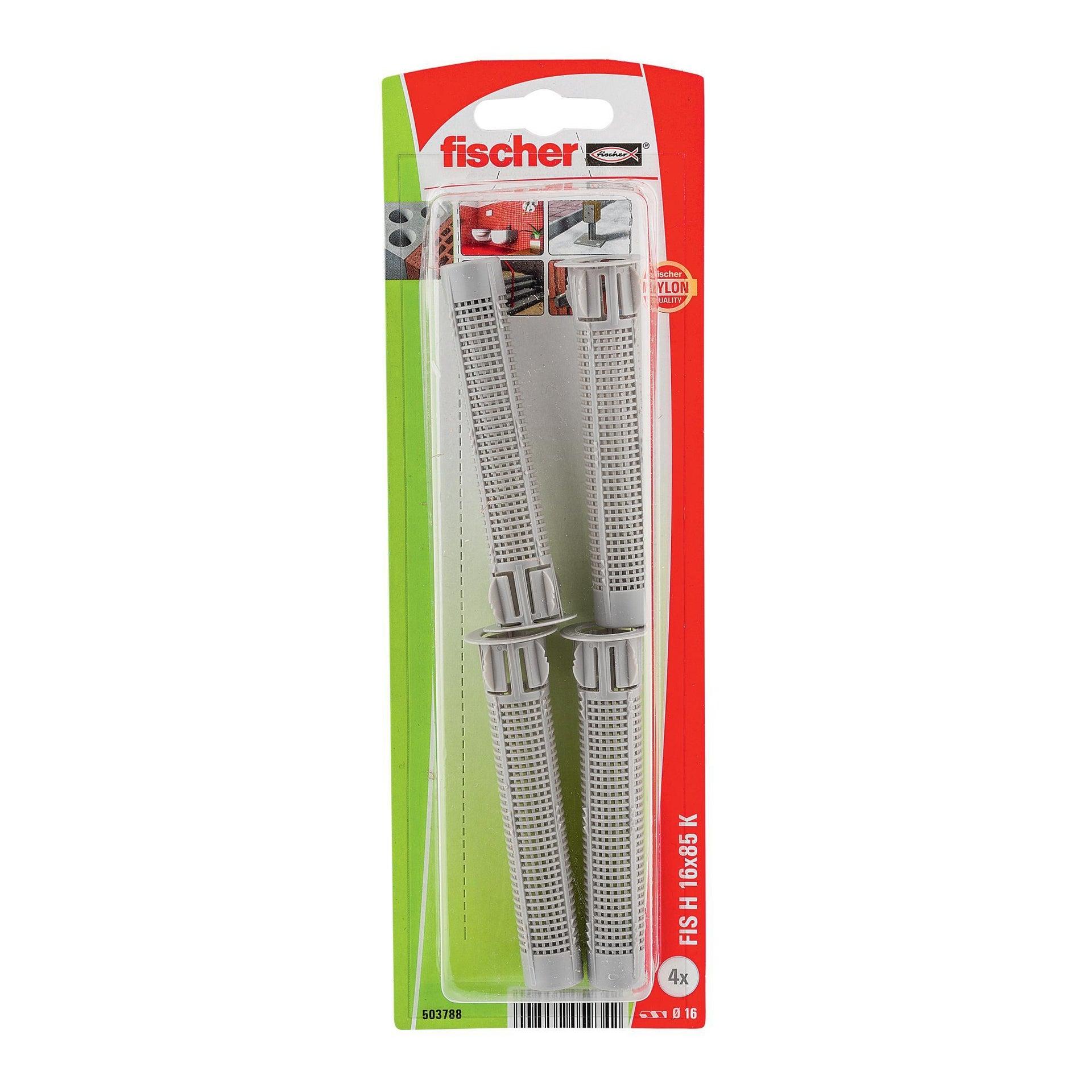 Tassello per ancoraggio chimico FISCHER L 85 mm, Ø 16 mm, 4 pezzi
