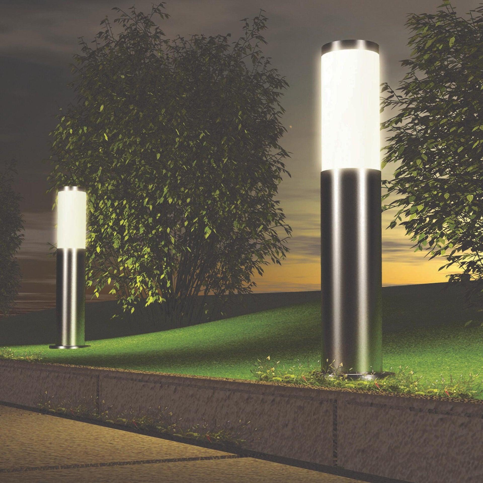 Lampione Bergen H45 cm in alluminio, acciaio, E27 1x MAX 46W IP44 INSPIRE - 4