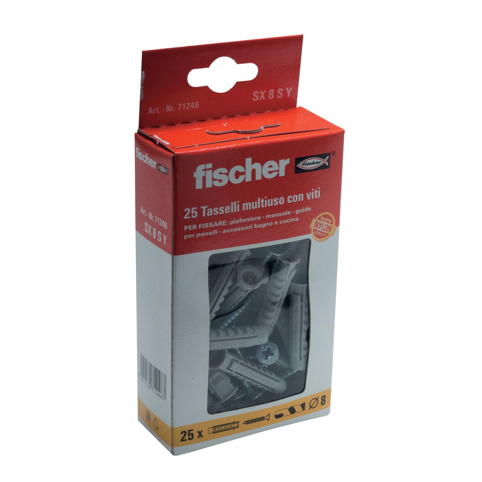 Tassello per materiale forato FISCHER SX, L 40 mm , Ø 8 mm, 25 pezzi - 3