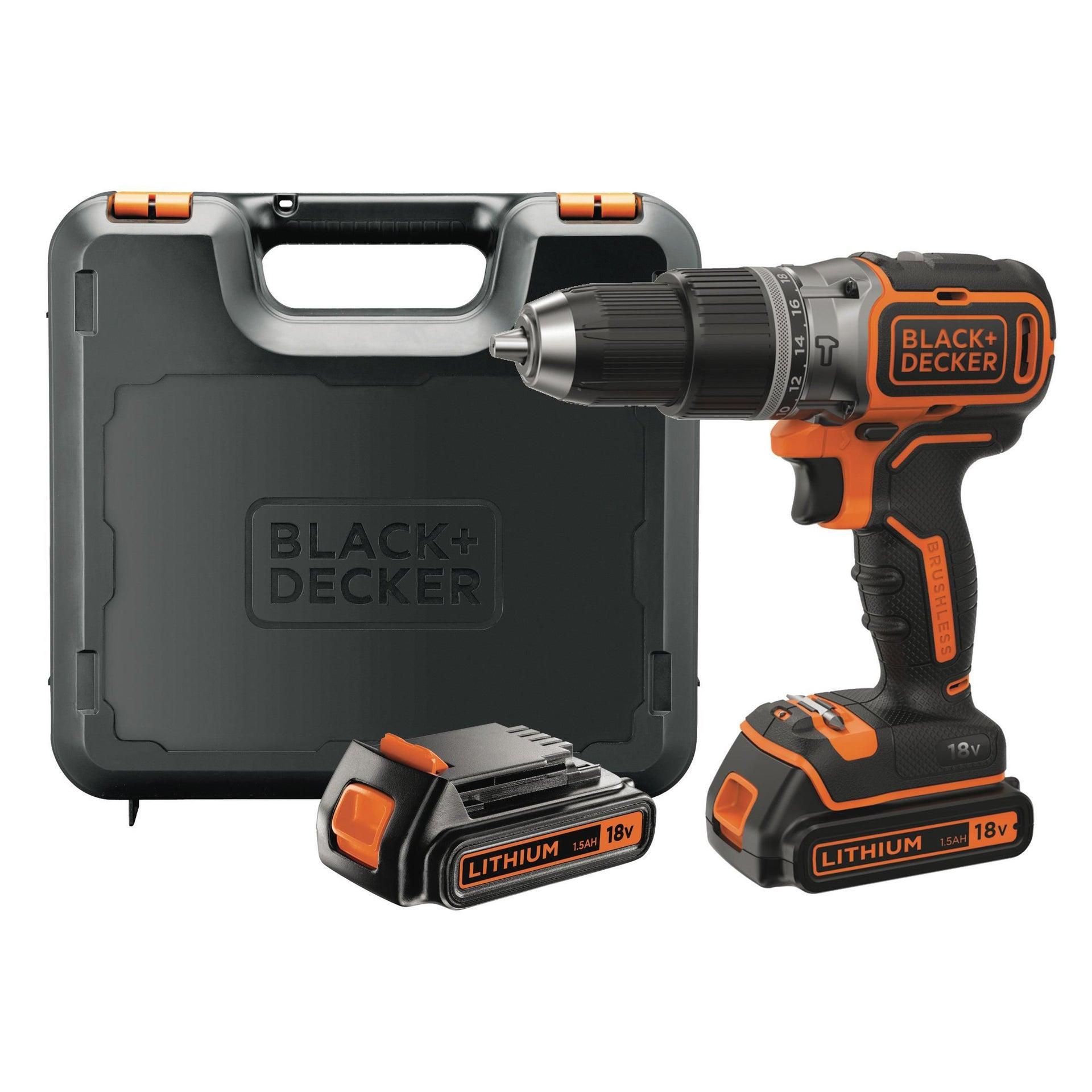 Trapano avvitatore a batteria BLACK + DECKER BL188KB-QW 18 V, 1.5 Ah, 2 batterie - 3