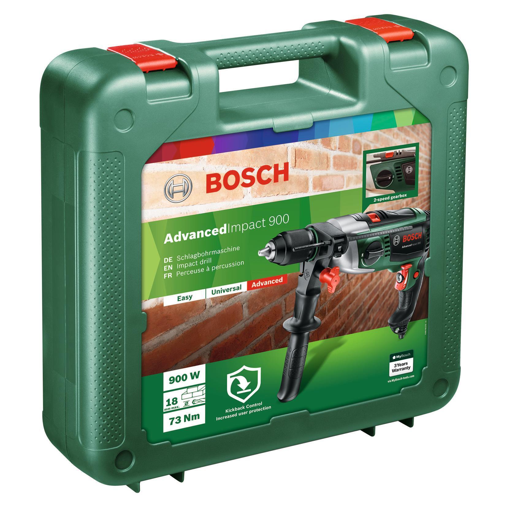 Trapano a percussione BOSCH Advanced impact 900 900 W - 5