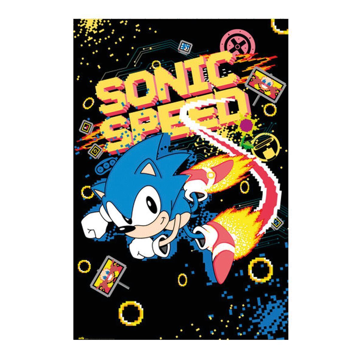 Poster Sonic speed 61x91.5 cm