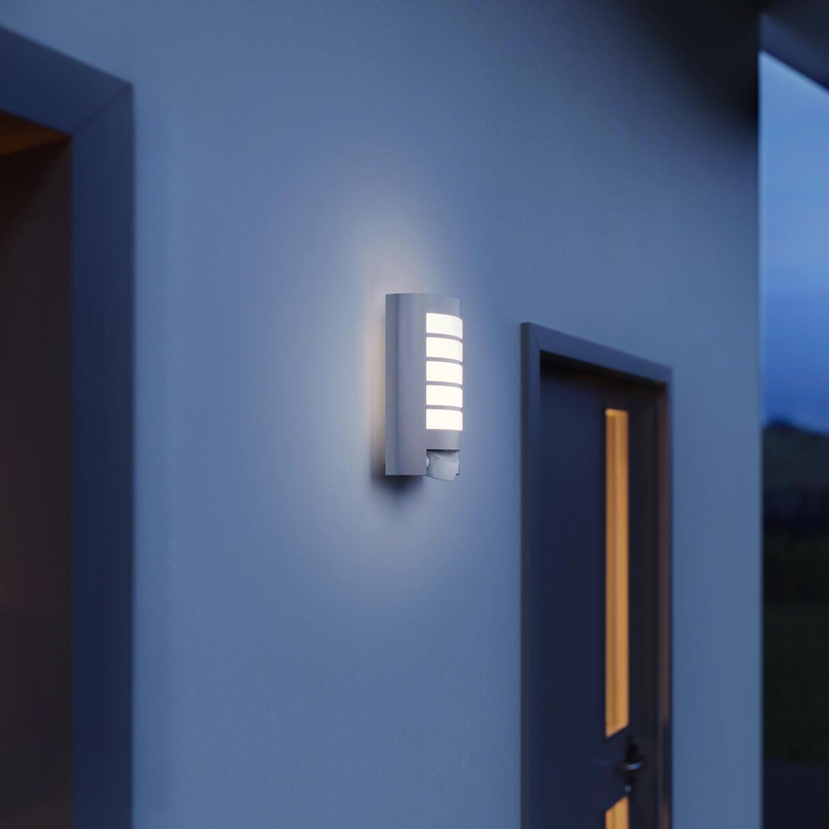 Applique L12 con sensore di movimento, in alluminio, grigio, E27 MAX60W IP44 STEINEL - 6