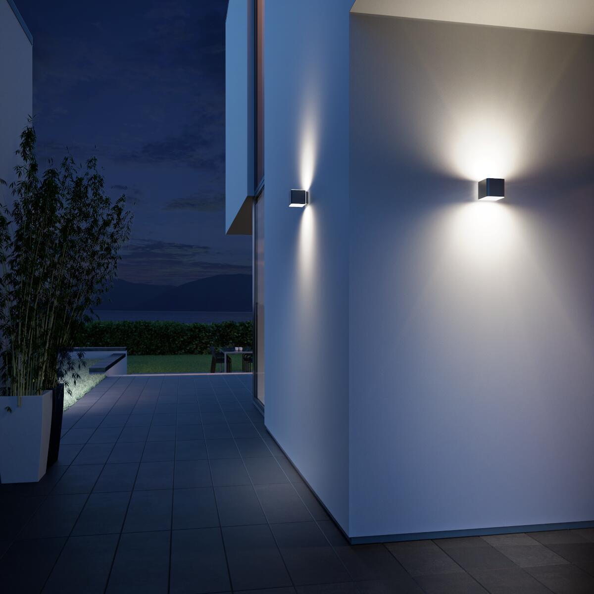 Applique L 840 LED integrato con sensore di movimento, grigio, 9.5W 305LM IP44 STEINEL - 4