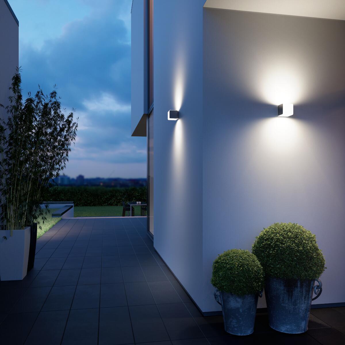 Applique L 830 LED integrato con sensore di movimento, grigio, 9.5W 502LM IP44 STEINEL - 3