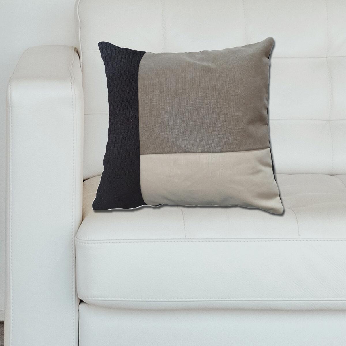 Cuscino Patch grigio 50x50 cm - 3