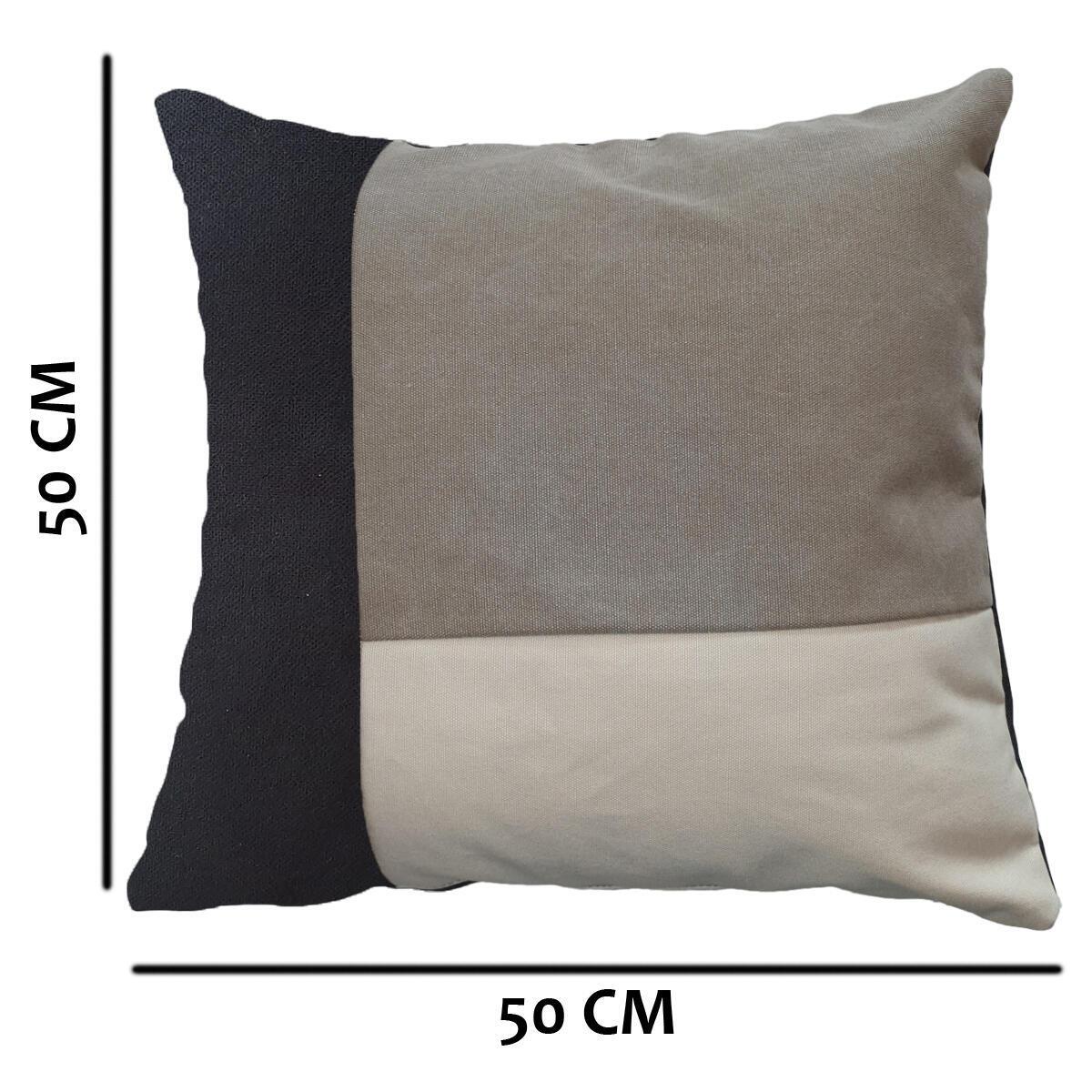 Cuscino Patch grigio 50x50 cm - 4
