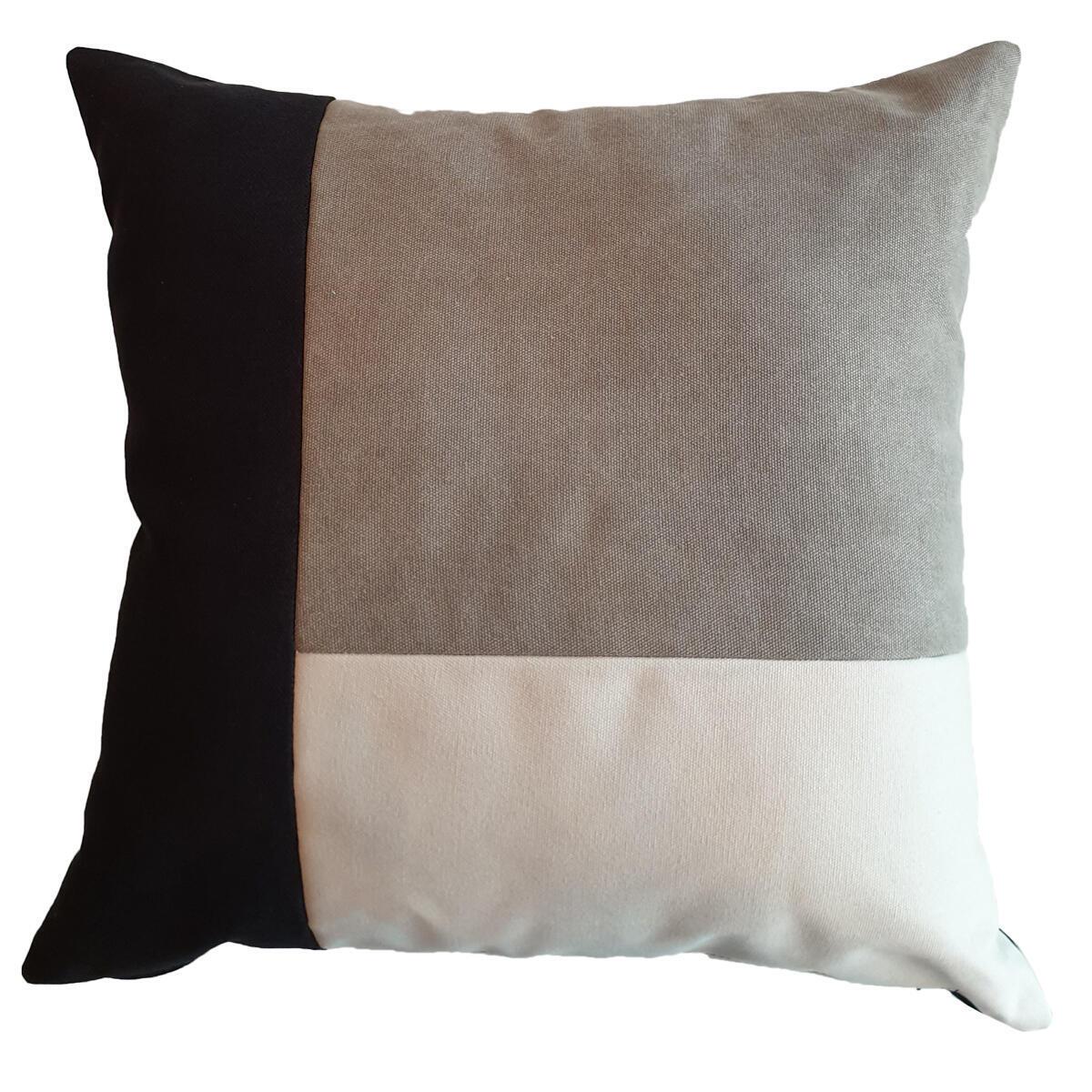 Cuscino Patch grigio 50x50 cm - 8