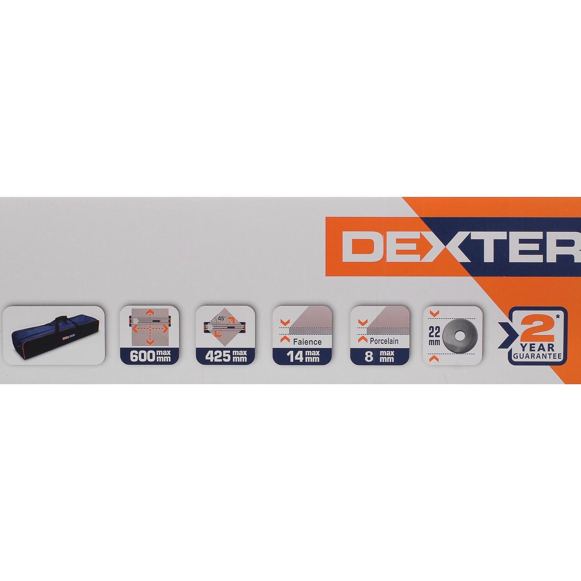 Tagliapiastrelle manuale DEXTER , lunghezza max taglio 600 mm - 10