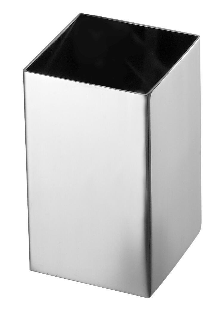 Bicchiere porta spazzolini Nemesia in inox grigio - 2