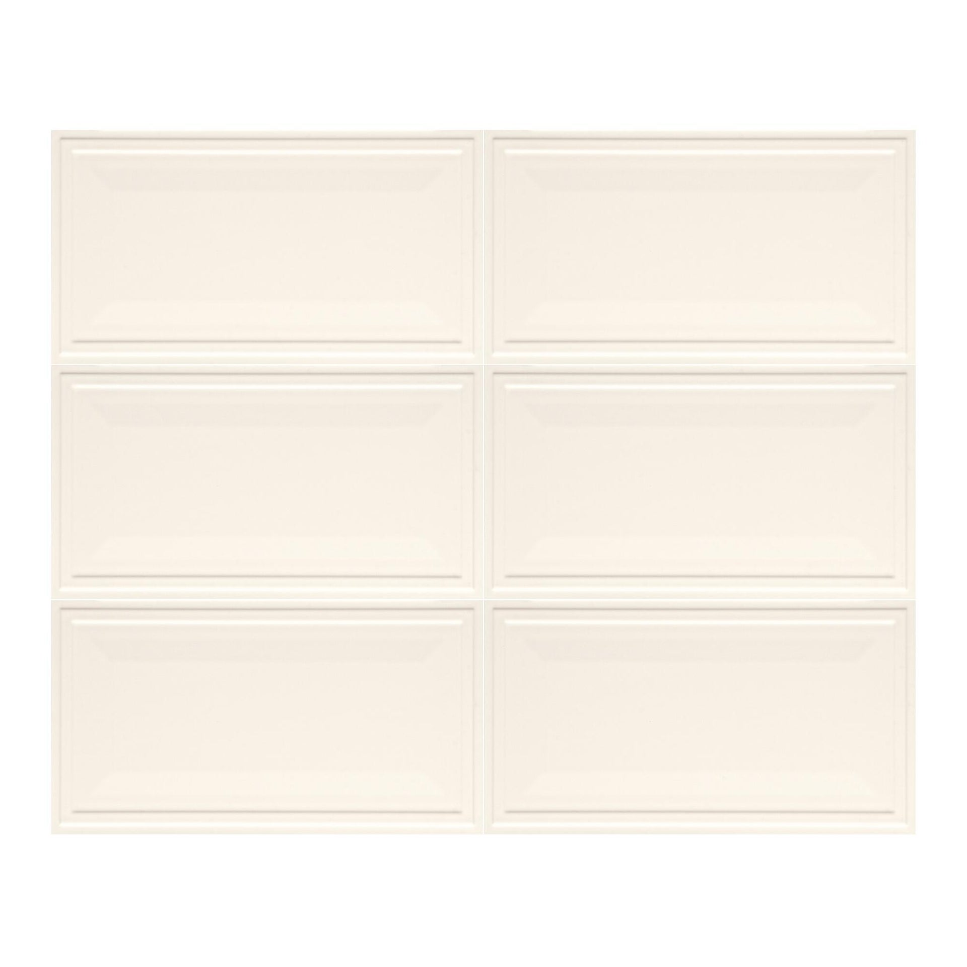 Piastrella per rivestimenti New Classic 30 x 56 cm sp. 10 mm bianco - 7