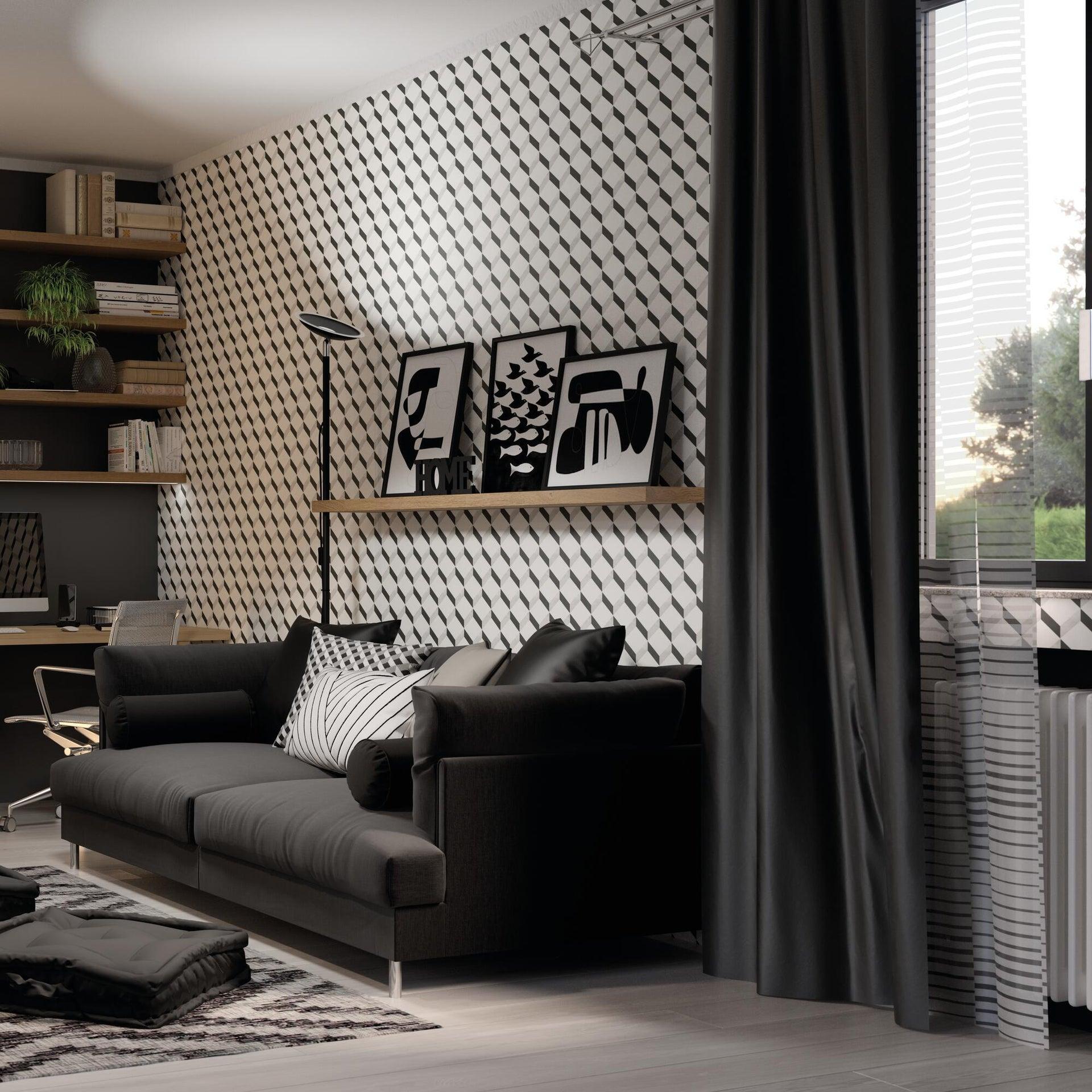 Cuscino Silvia nero 60x60 cm - 3