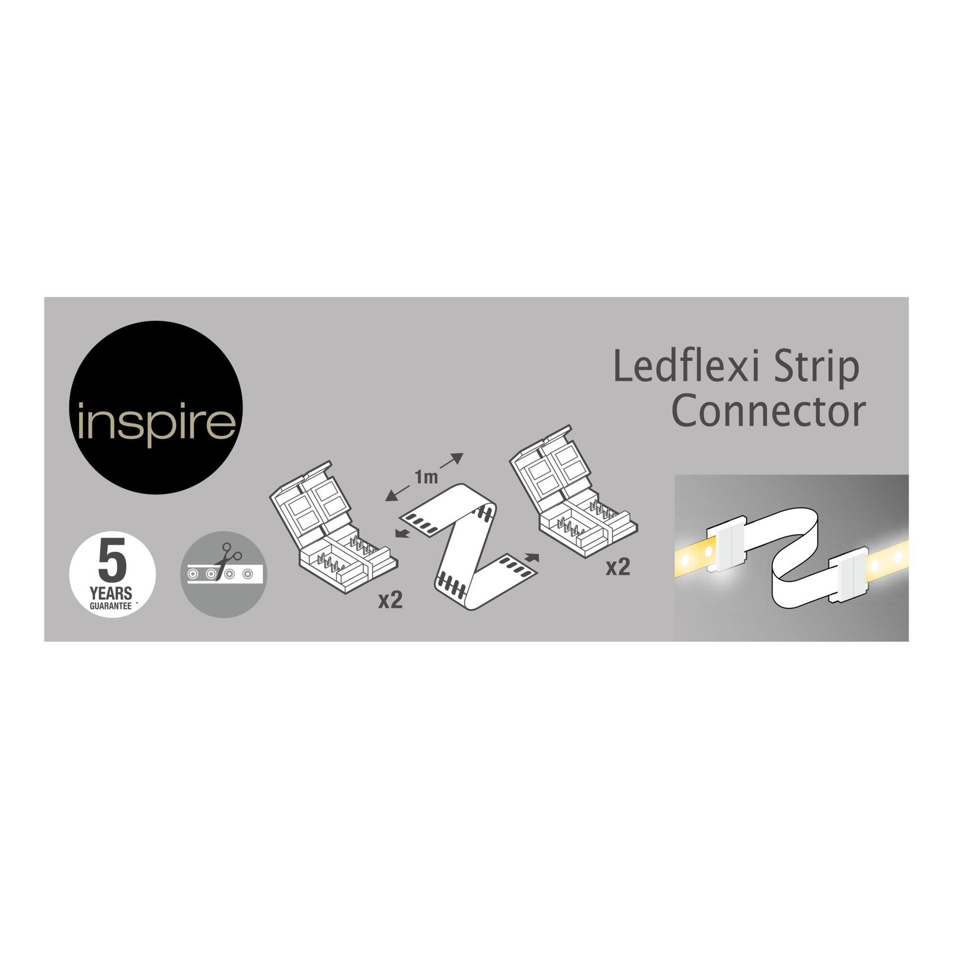 Connettore led strip, bianco, 1 m - 3