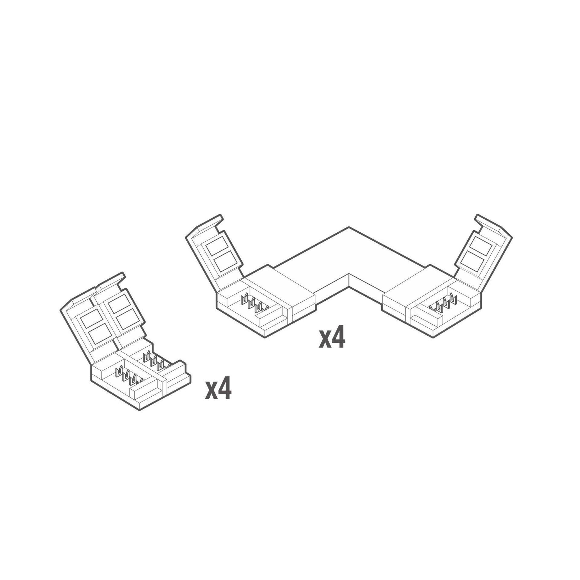 Accessori striscia LED bianco, - 2