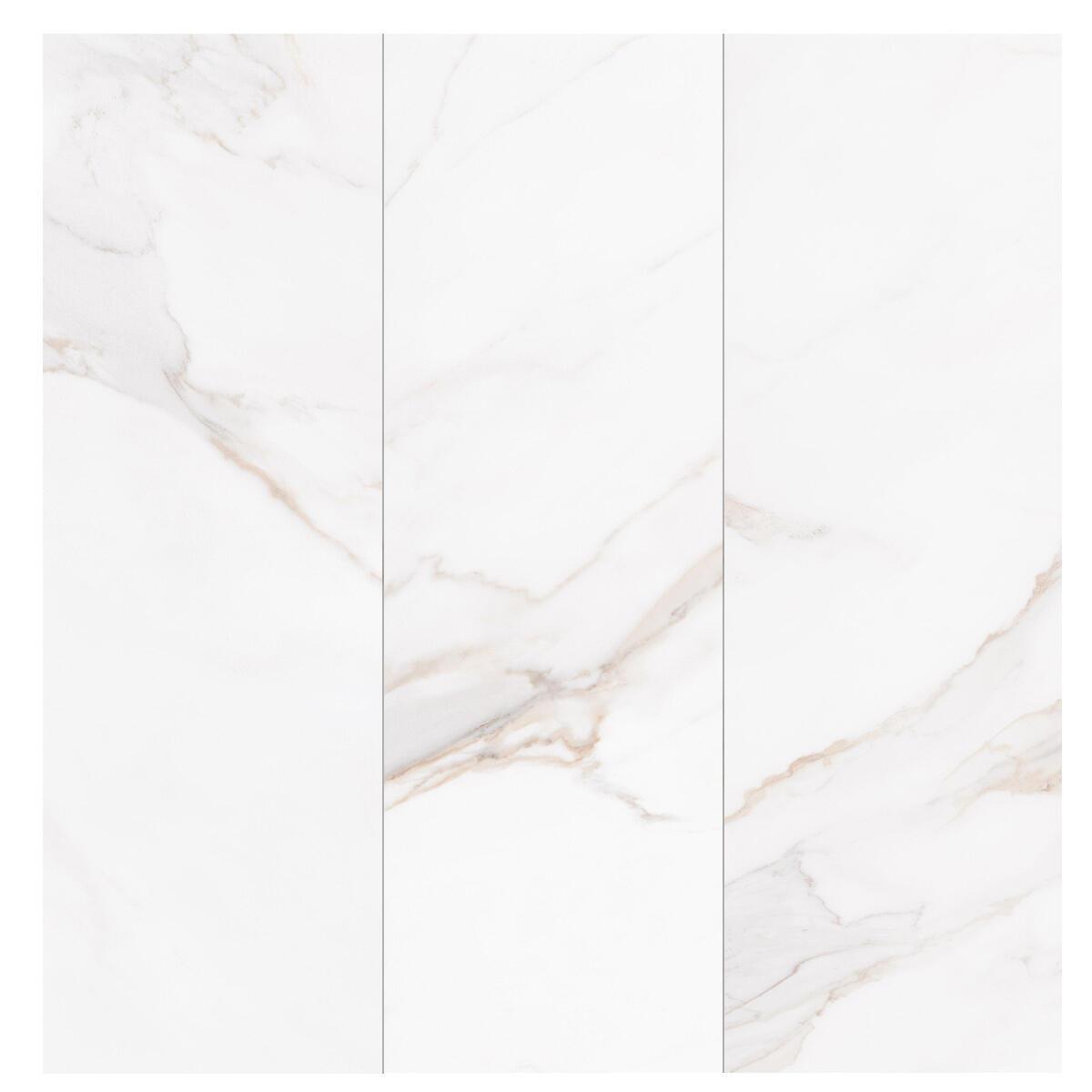 Piastrella per rivestimenti Marmorea Calacata 31.5 x 100 cm sp. 8.7 mm bianco - 2
