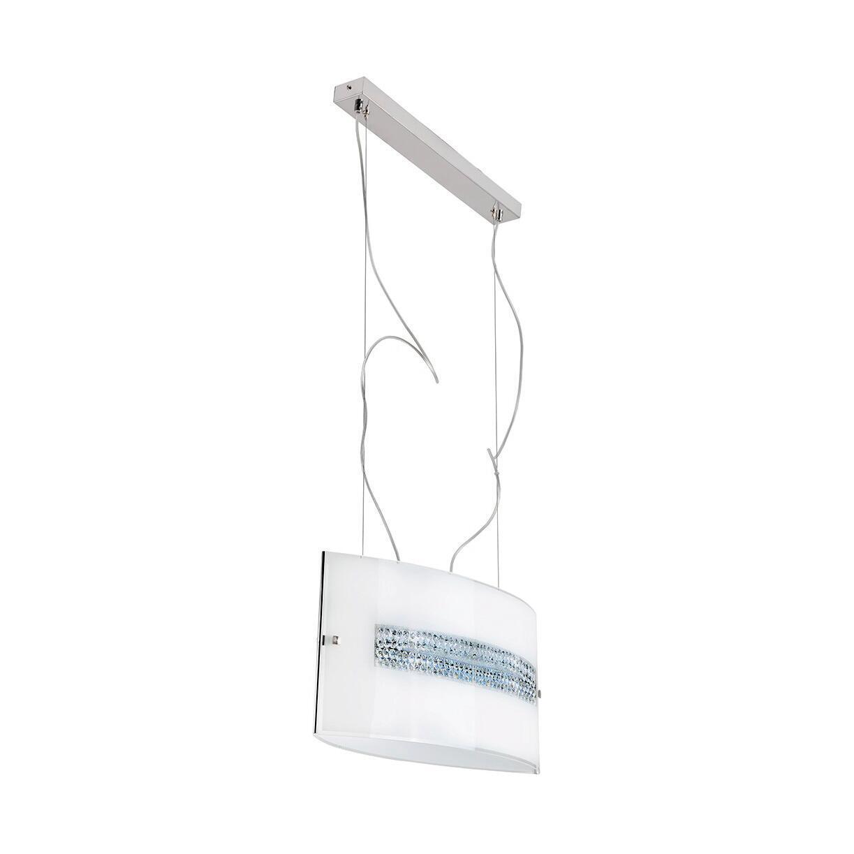 Lampadario Neoclassico Cristal LED integrato bianco, in vetro, L. 58 cm, 4 luci, NOVECENTO - 1