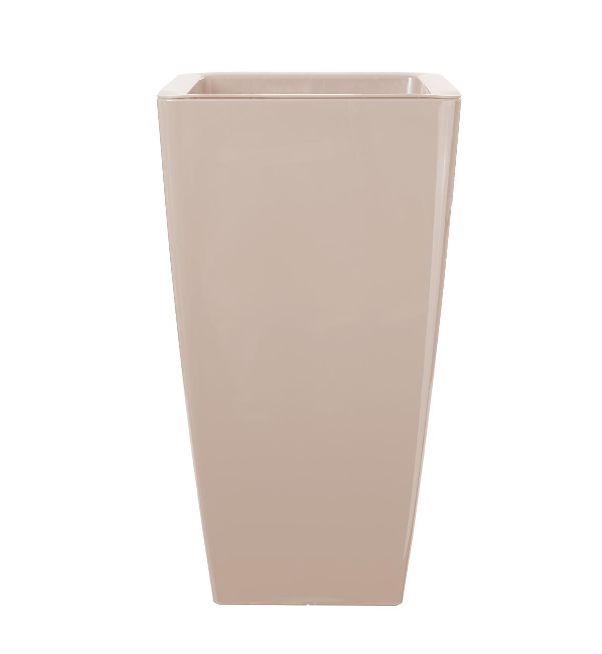 Vaso ARTEVASI in polipropilene colore sabbia H 61 cm, L 33 x P 33 cm