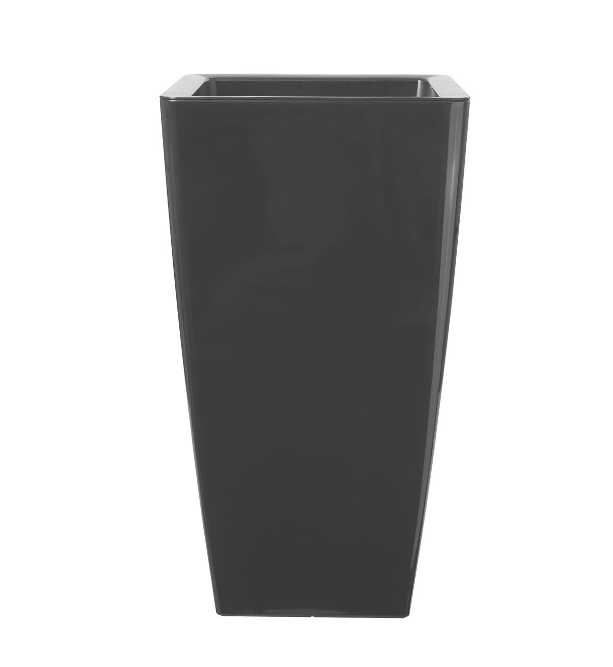 Vaso ARTEVASI in polipropilene colore antracite H 61 cm, L 33 x P 33 cm Ø 33 cm