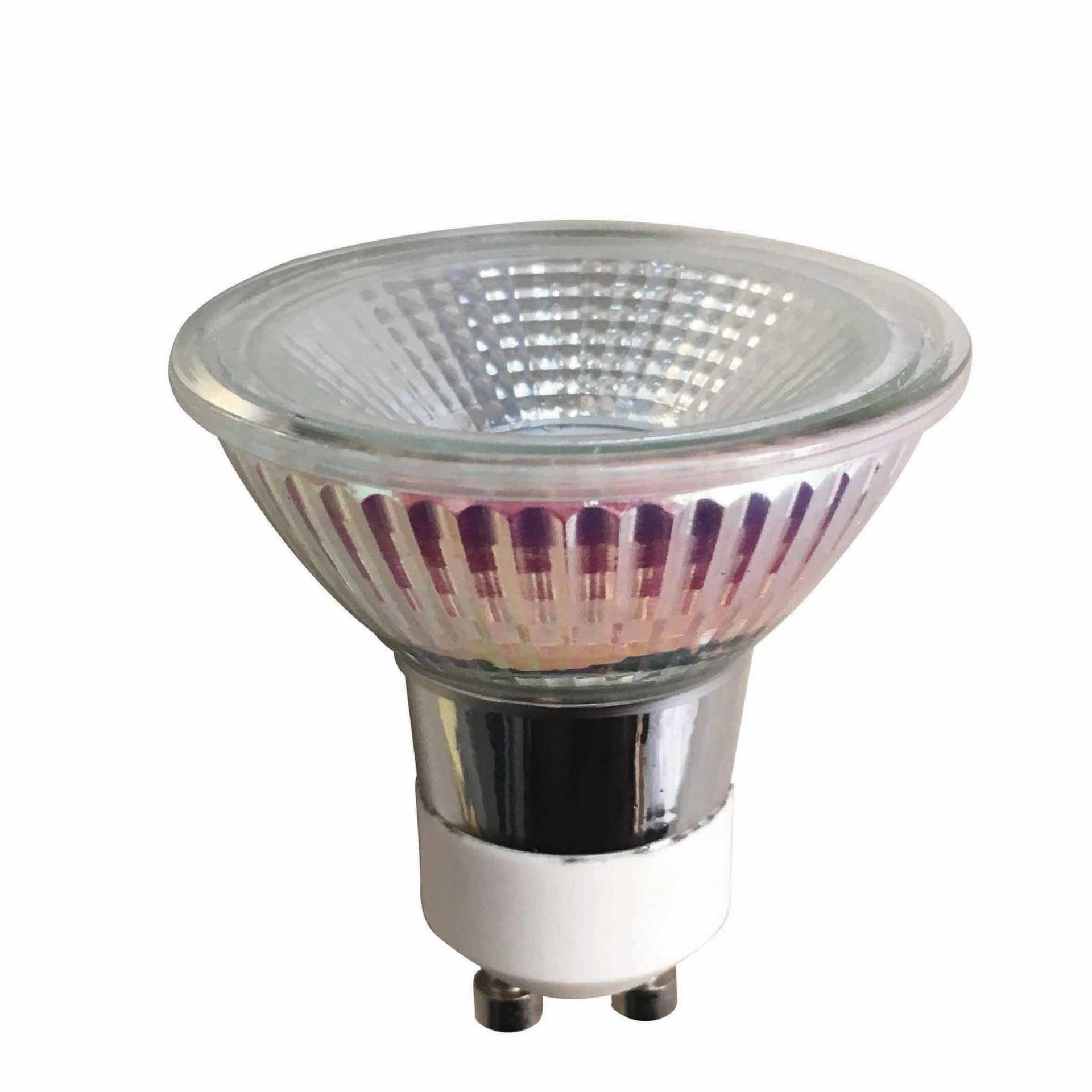 Lampadina LED, GU10, Faretto, Trasparente, Luce calda, 5.2W=345LM (equiv 50 W), 100° , LEXMAN - 1