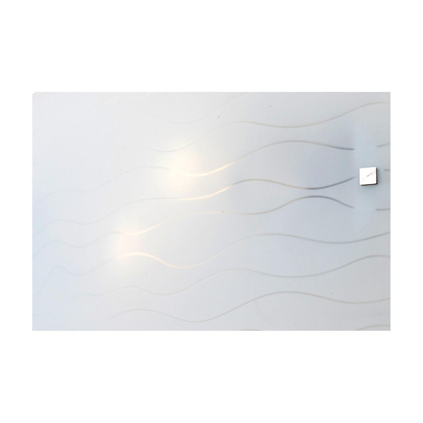Applique classico Nina bianco, in vetro, 32x20 cm, - 5