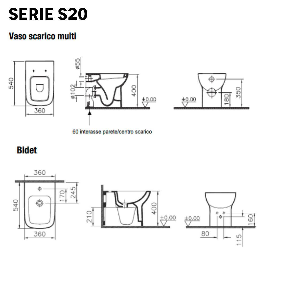 Vaso wc a pavimento s20 - 2